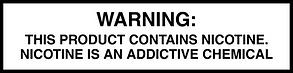 nicotine fda warning