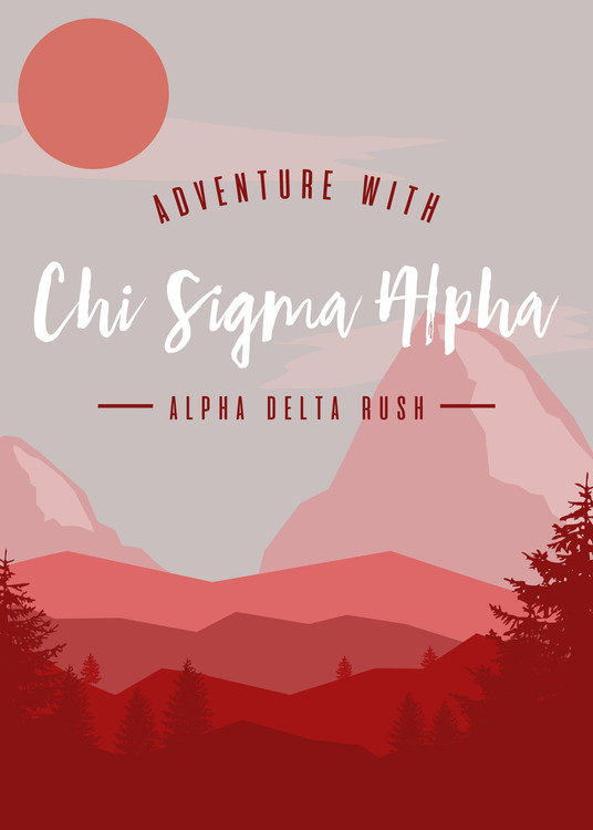 Adventure with Chi Sigma Alpha!