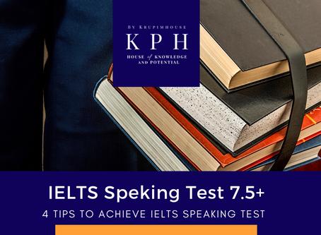 เจาะลึก IELTS Speaking Test  พูดยังไงให้ได้ 7.5