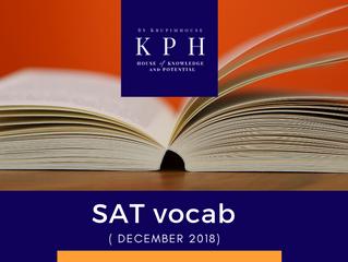 รวมคำศัพท์ SAT DEC 2018 พาร์ท reading!