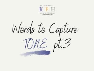 เรียน SAT/ ติว SAT VOCAB : รวมคำศัพท์หา TONE ของผู้เขียน (Words to Capture Tone) Part 3