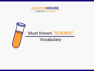 "Must Known ""Science"" Vocabulary"