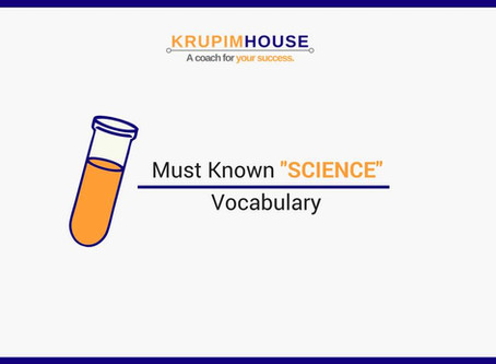 """Must Known """"Science"""" Vocabulary"""