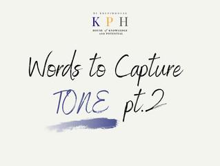 เรียน SAT/ ติว SAT VOCAB : รวมคำศัพท์หา TONE ของผู้เขียน (Words to Capture Tone) Part 2