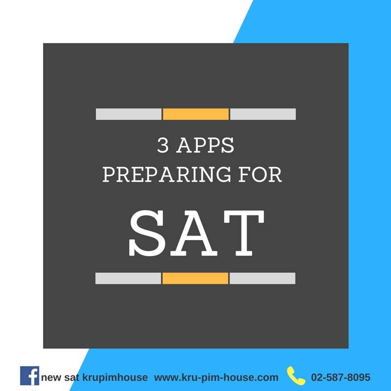 3 apps preparing for SAT