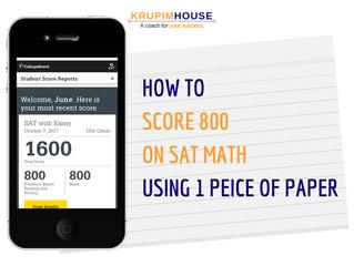 How to สอบ SAT MATH ให้ได้เต็ม 800 ใช้กระดาษแค่แผ่นเดียว!