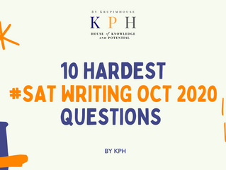 เรียน SAT/ติว SAT 10 hardest SAT Writing Oct 2020 questions