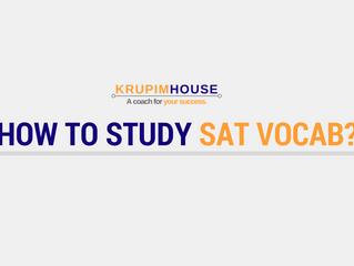 เรียน SAT vocab ยังไง ให้ได้ผล?