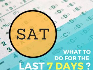 7 วันสุดท้ายก่อนสอบ SAT ทำอะไรดี? (What to do 7 days before SAT exam)