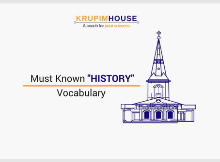 """Must Known """"HISTORY"""" Vocabulary"""