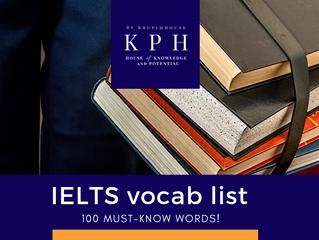 รวมศัพท์ IELTS 100 คำ อัพคะแนน Writing & Speaking!