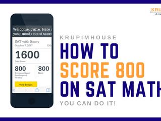 เรียน SAT MATH อย่างไร ให้ได้ 800 เต็ม!