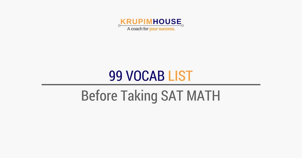 คำศัพท์ SAT MATH