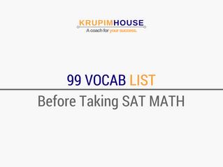 รวม Vocab List 99 คำต้องรู้ ถ้าคิดจะสอบ SAT MATH