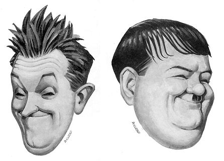 Portrait of Laurel and Hardy by Al Kilgore