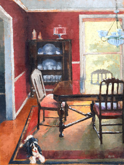 Pat's Dining Room, With Pup
