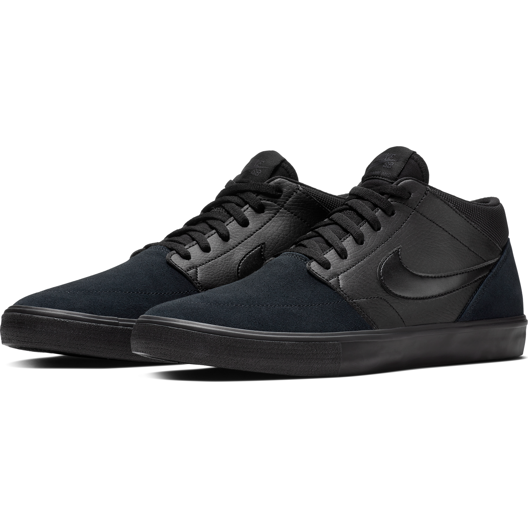 Nike SB Solarsoft Portmore II Mid - Black | Sneaks