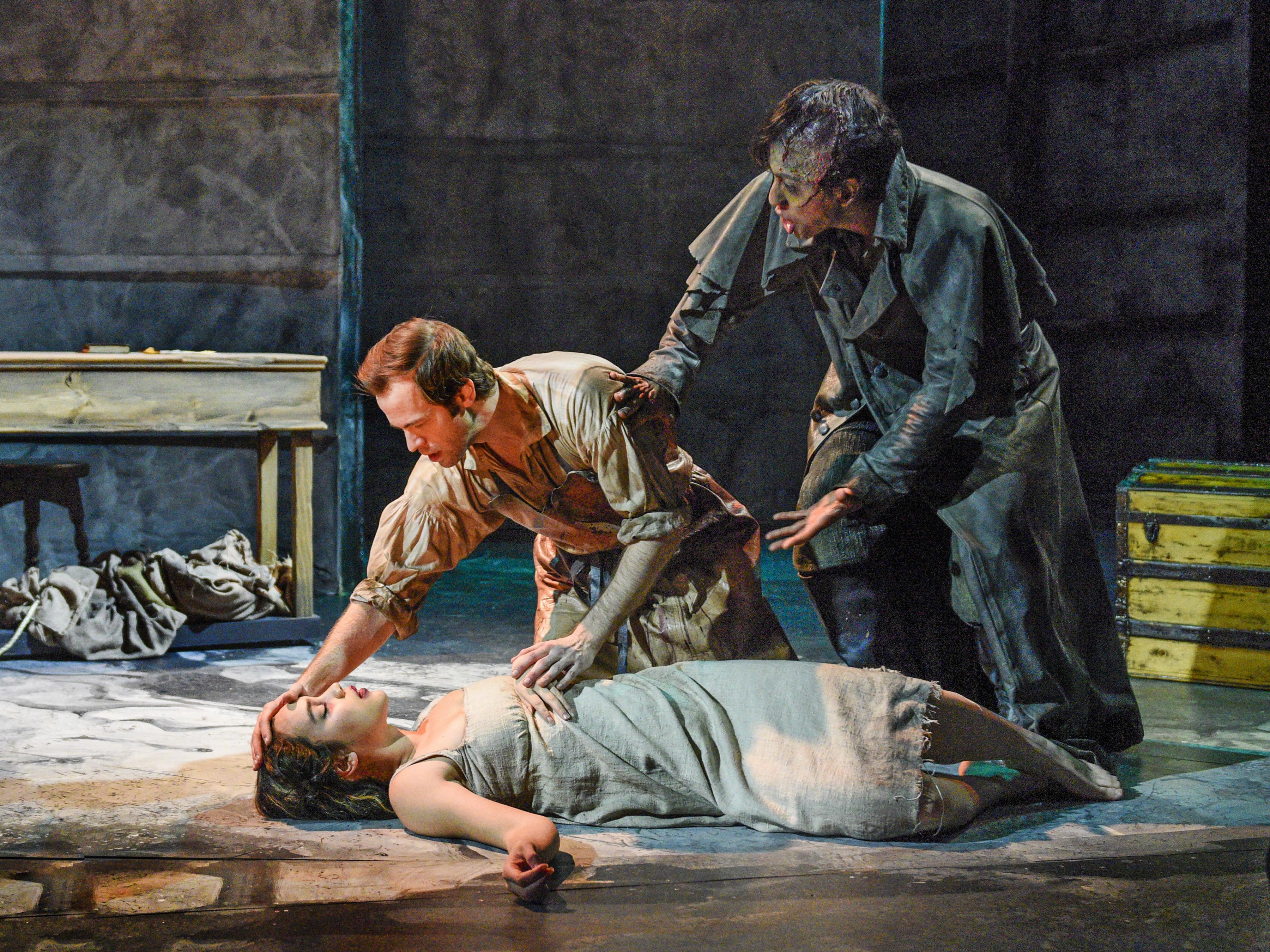 Tia Laulusa, Alex Organ, Kim Fischer in Frankenstein - Photo by Karen Almond
