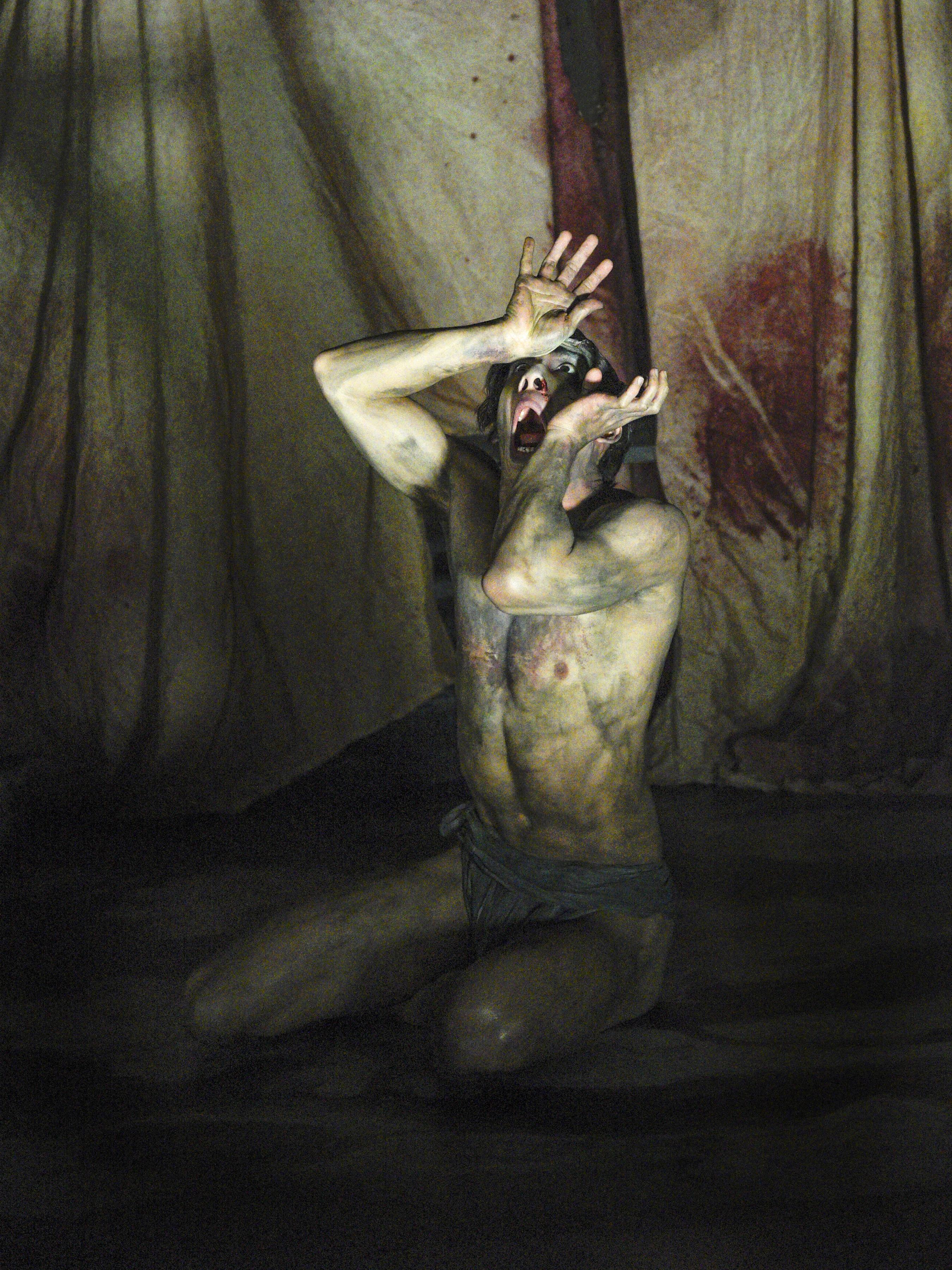 Kim Fischer as The Creature in Frankenstein - Photo by Karen Almond (1)