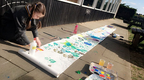 Child painting - after school care