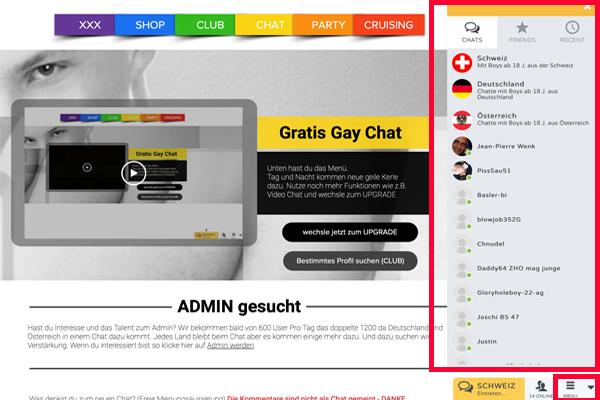 Gay Chat, in Deutschland, Österreich und der Schweiz