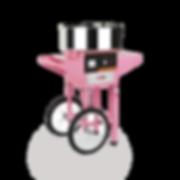 Zuckerwattemaschine mit Wagen
