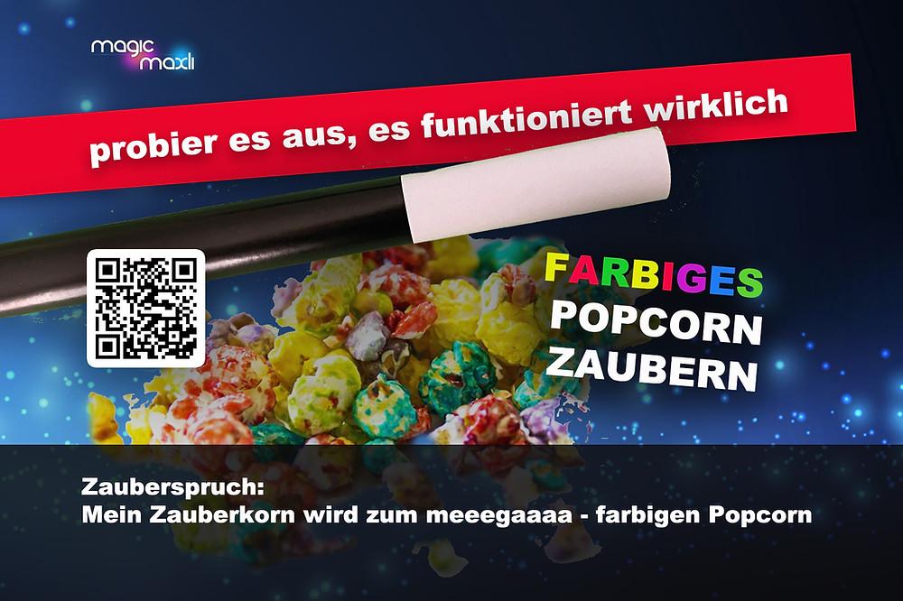 farbiges Popcorn Zauberspruch Kinderzauberer schweiz