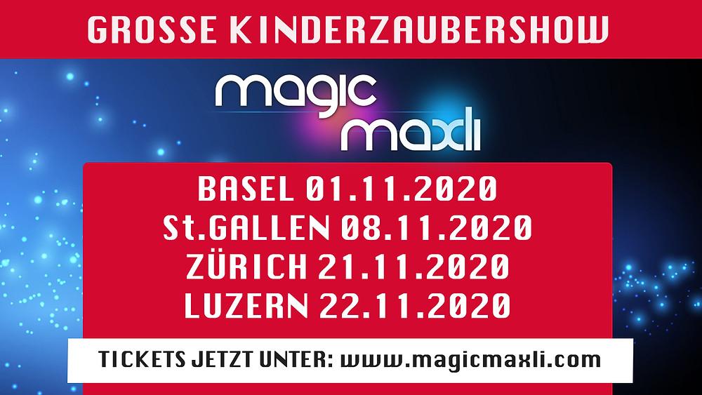 Kinderzaubershow 2020 Fantasy Botania Schweiz