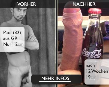 Im Bild Penis so gross und dick wie eine Flasche