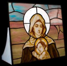 Настольный витраж икона Богородица