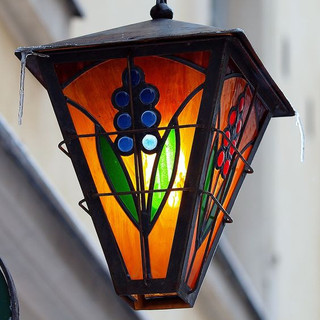 МК Витраж-фонарь в технике Тиффани