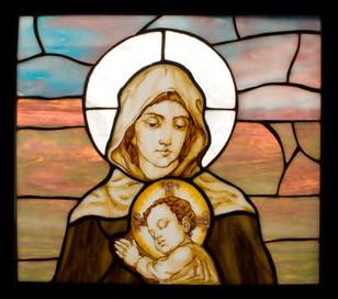 Витраж-икона Богородица