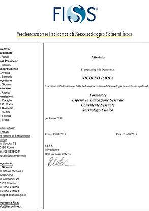 Locandina FISS sessuologia scientifica