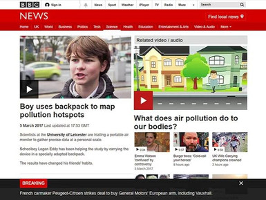 EarthSense Scientists Help Pupils Map Air Pollution for BBC News