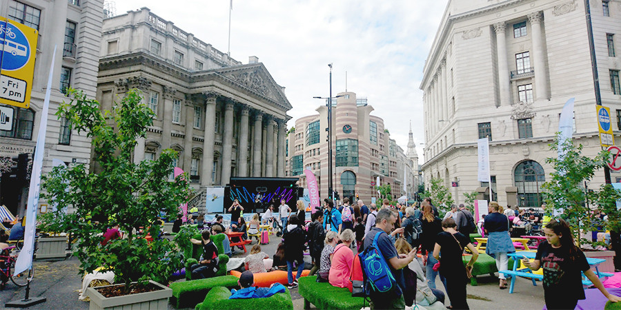 The general public taking part in the Reimagine festival in London