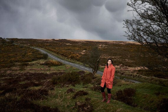 Donna Lyndsay poses for a photo near her home in Exmoor. Photographed by Amelia Troubridge