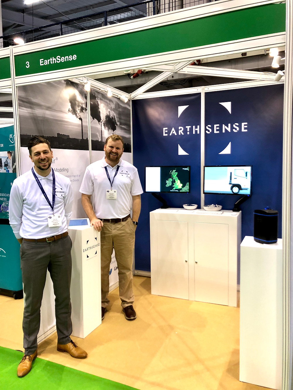 Managing Director Tom Hall & Technical Director Roland Leigh at AQE 2018