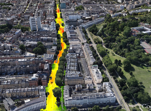 EarthSense Computer Models Impact of Trees on Urban Air Pollution