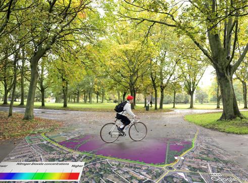 EarthSense Partnership Maps City Clean Air Cycle Routes