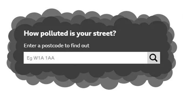 Link to the air pollution postcode checker