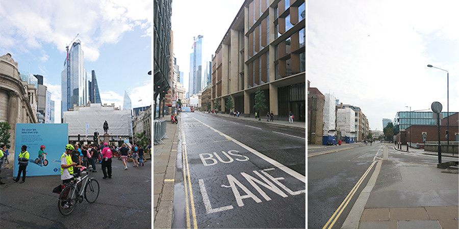Streets empty of vehicles in London for World Car Free Day