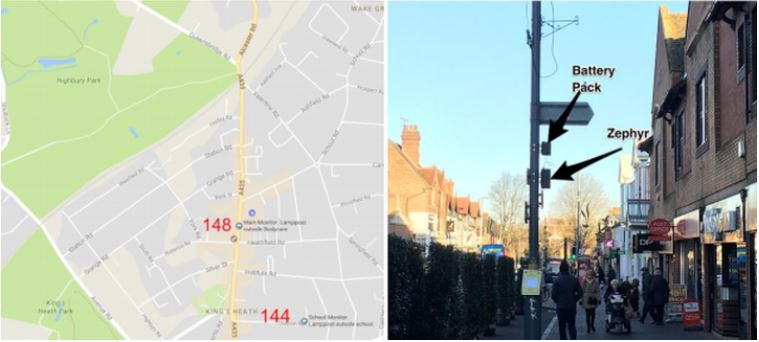 Zephyr® locations on Google maps and in picture on King's Heath High Street