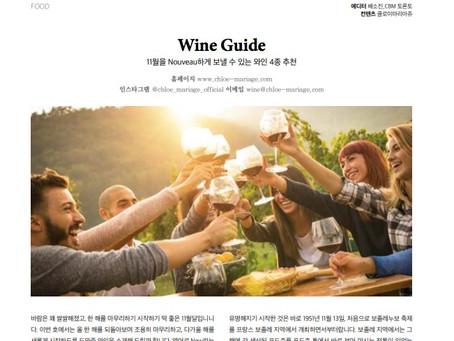 11월을 Nouveau하게 보낼 수 있는 와인 4종 추천