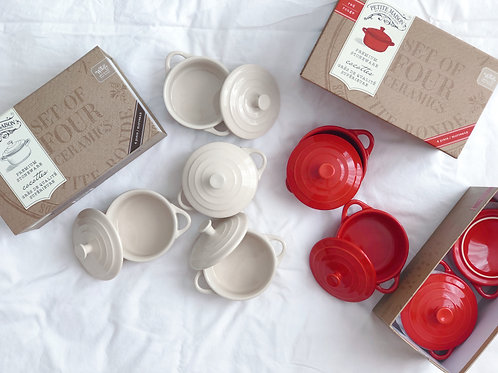 Cocotte Set - Red / Cream