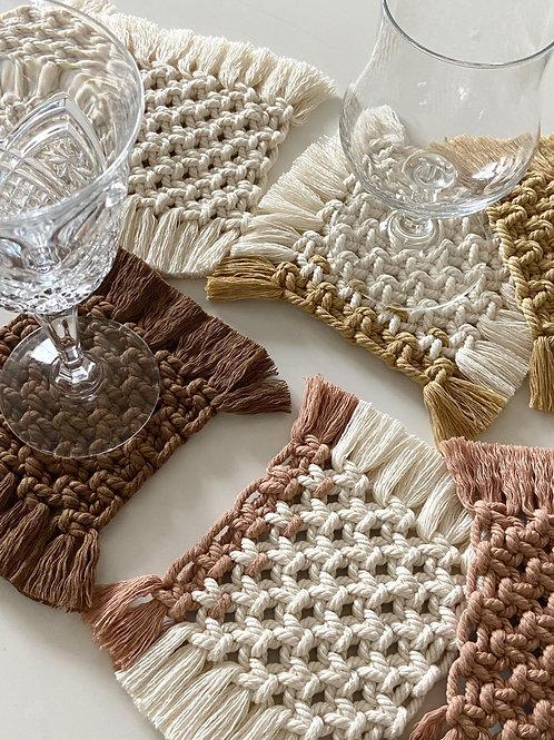 Macrame Coasters by Dohbie Craft
