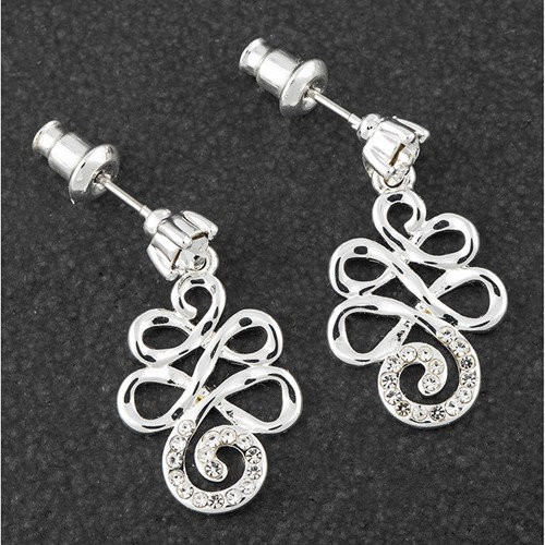 Equilibrium Artisan Loops Earrings with CZ