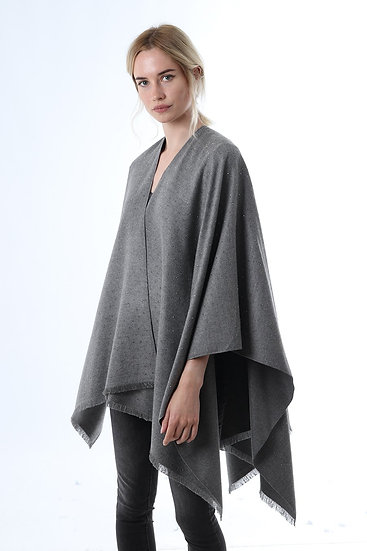 Cape- Medium Grey with Stars