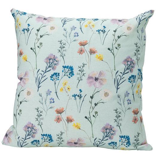 Pressed Flowers Cushion Green