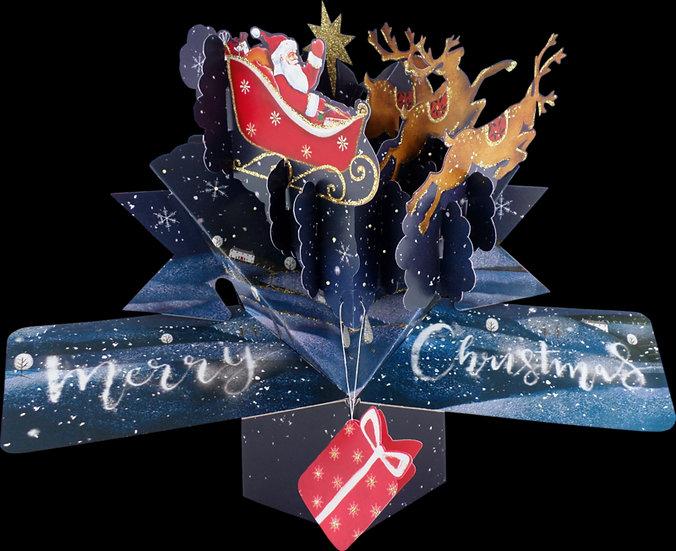 Pop Up Merry Christmas Santa