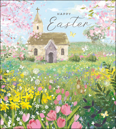 Pack of Easter Cards with Church